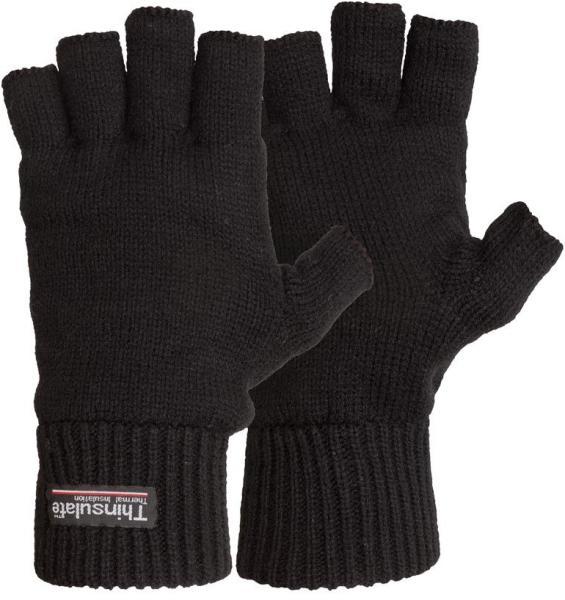 FUSCUS ujjvég nélküli védőkesztyű fekete