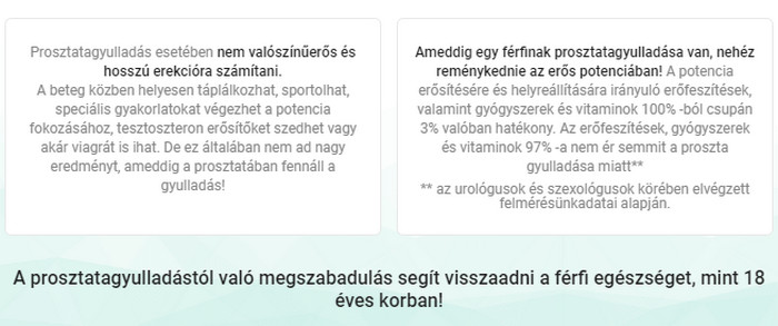 prosztatagyulladás az erekció helyreállítása)