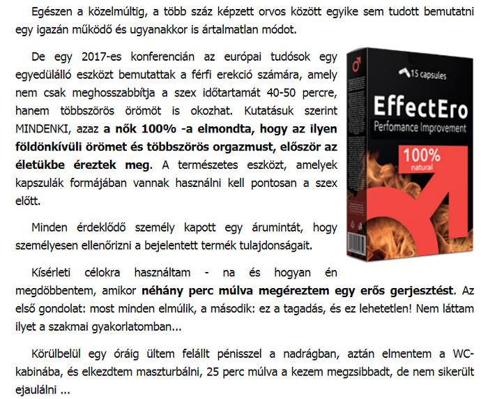 a hatékonyság és az erekció növelése érdekében)