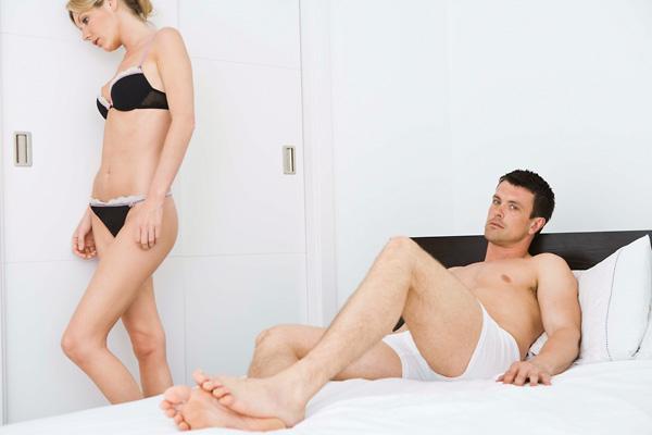 férfiak az erekció során